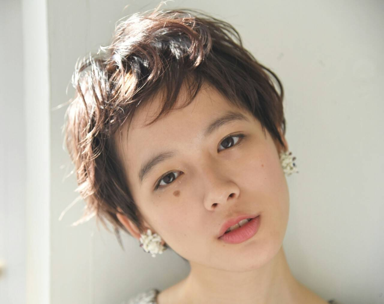 外国人風 デート パーマ ニュアンスヘアスタイルや髪型の写真・画像