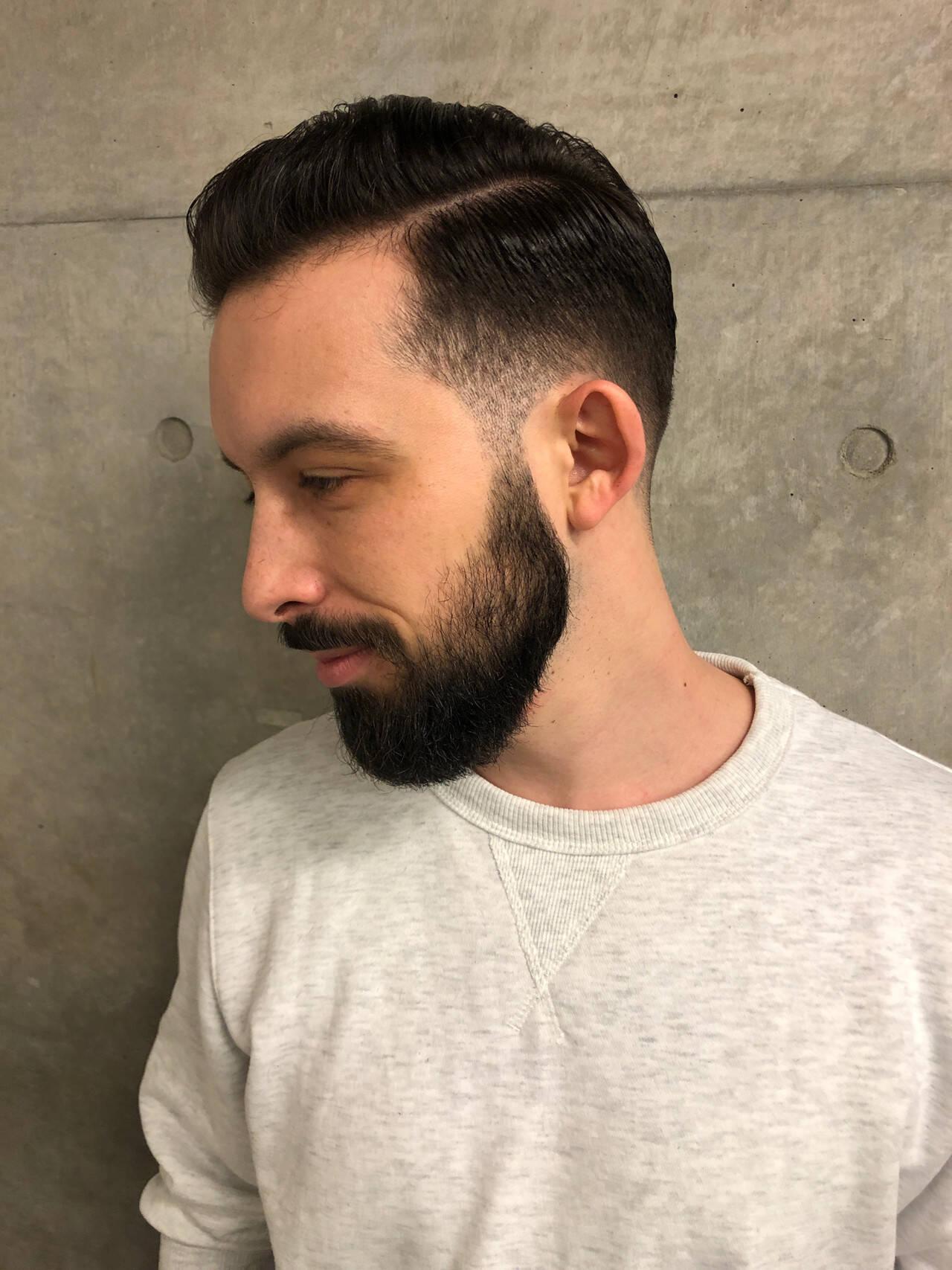 メンズカット ツーブロック 刈り上げ ストリートヘアスタイルや髪型の写真・画像