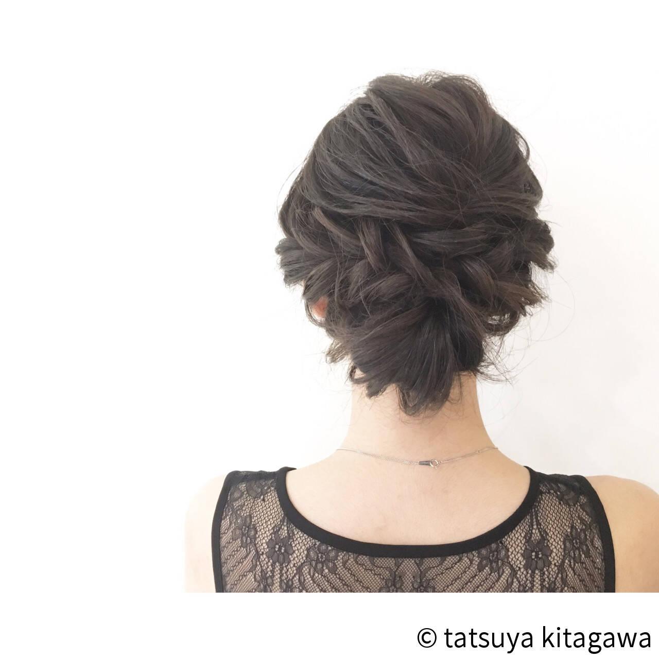 外国人風 セミロング 上品 ヘアアレンジヘアスタイルや髪型の写真・画像