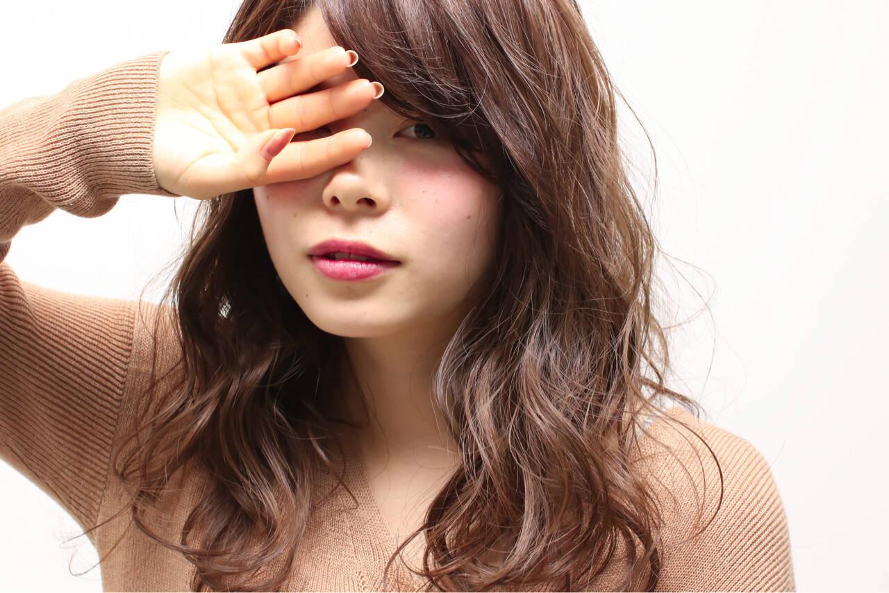ガーリー グラデーションカラー フェミニン ゆるふわヘアスタイルや髪型の写真・画像