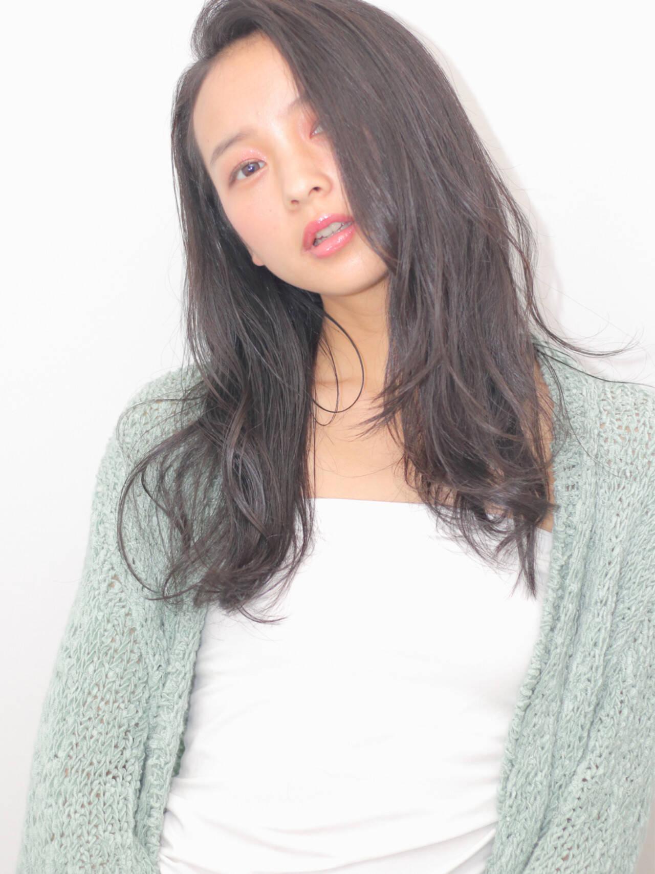 艶髪 ロング 暗髪 ピュアヘアスタイルや髪型の写真・画像