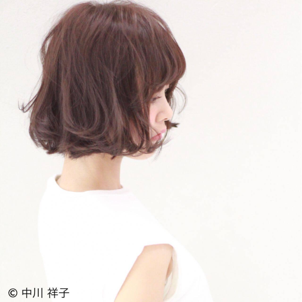ボブ ガーリー 大人かわいい ゆるふわヘアスタイルや髪型の写真・画像