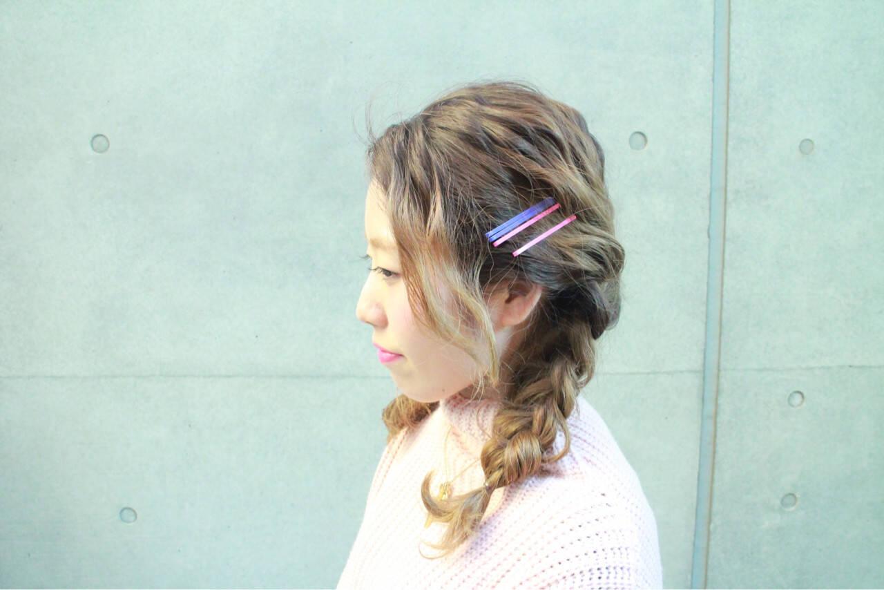 外国人風 ショート ゆるふわ 簡単ヘアアレンジヘアスタイルや髪型の写真・画像