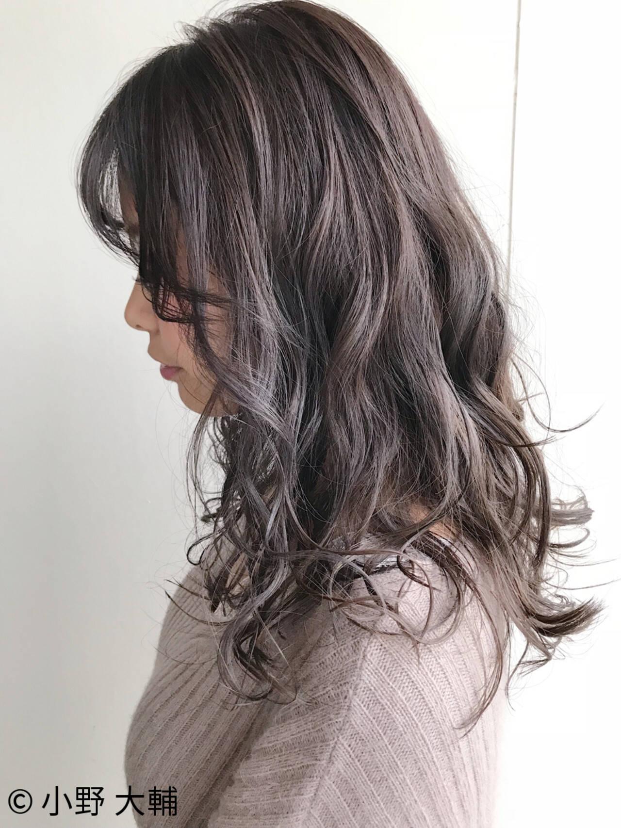 透明感 外国人風 外国人風カラー ハイライトヘアスタイルや髪型の写真・画像