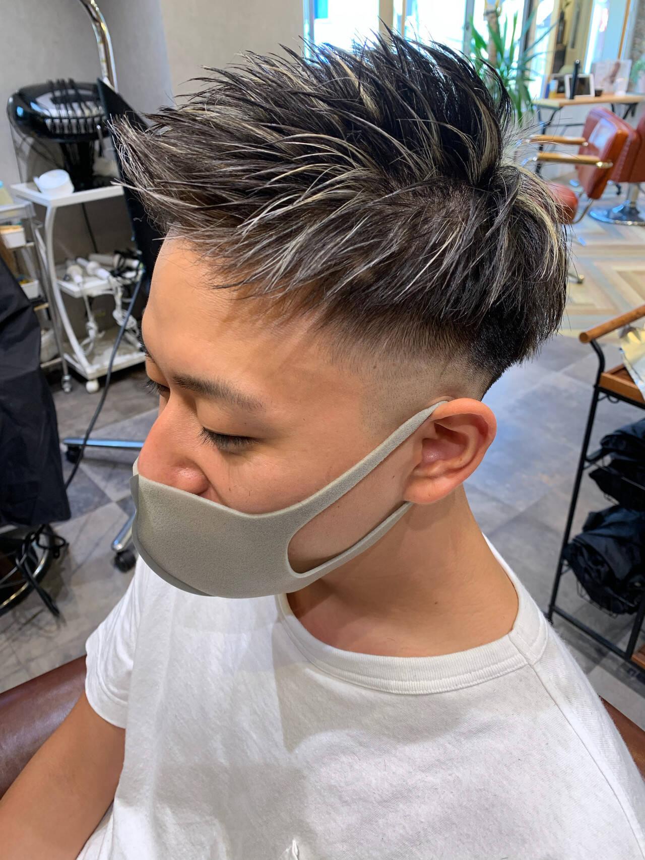 フェードカット スキンフェード ショート ストリートヘアスタイルや髪型の写真・画像