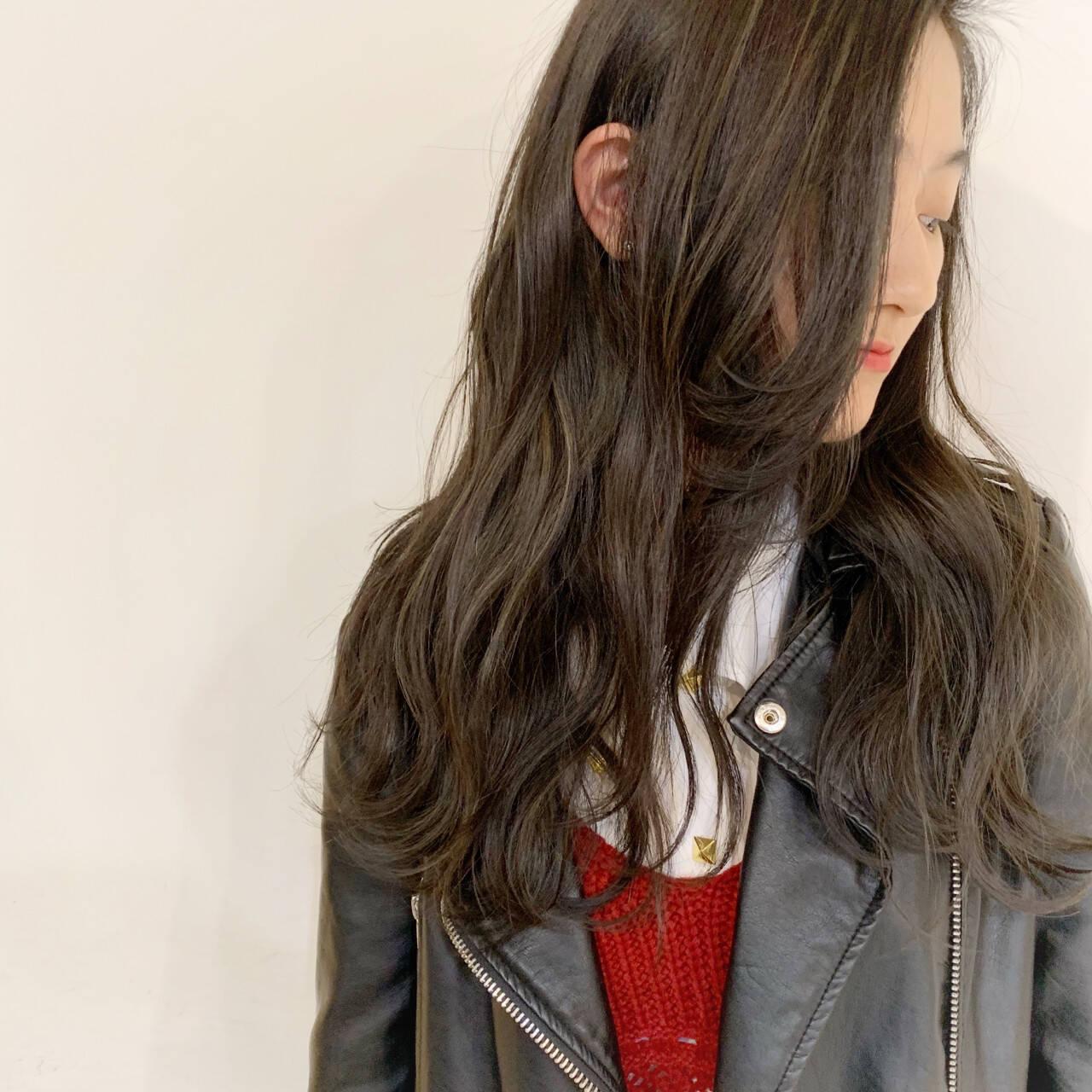 秋 ストリート ゆるふわ ロングヘアスタイルや髪型の写真・画像
