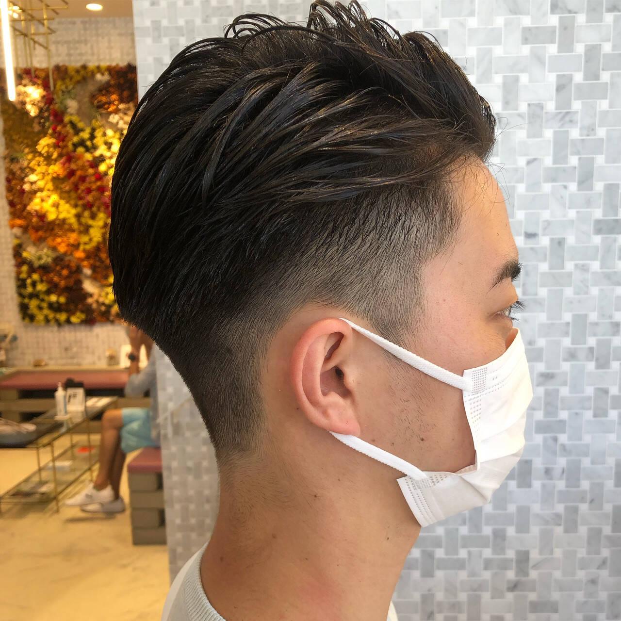 メンズショート メンズヘア ショート フェードカットヘアスタイルや髪型の写真・画像