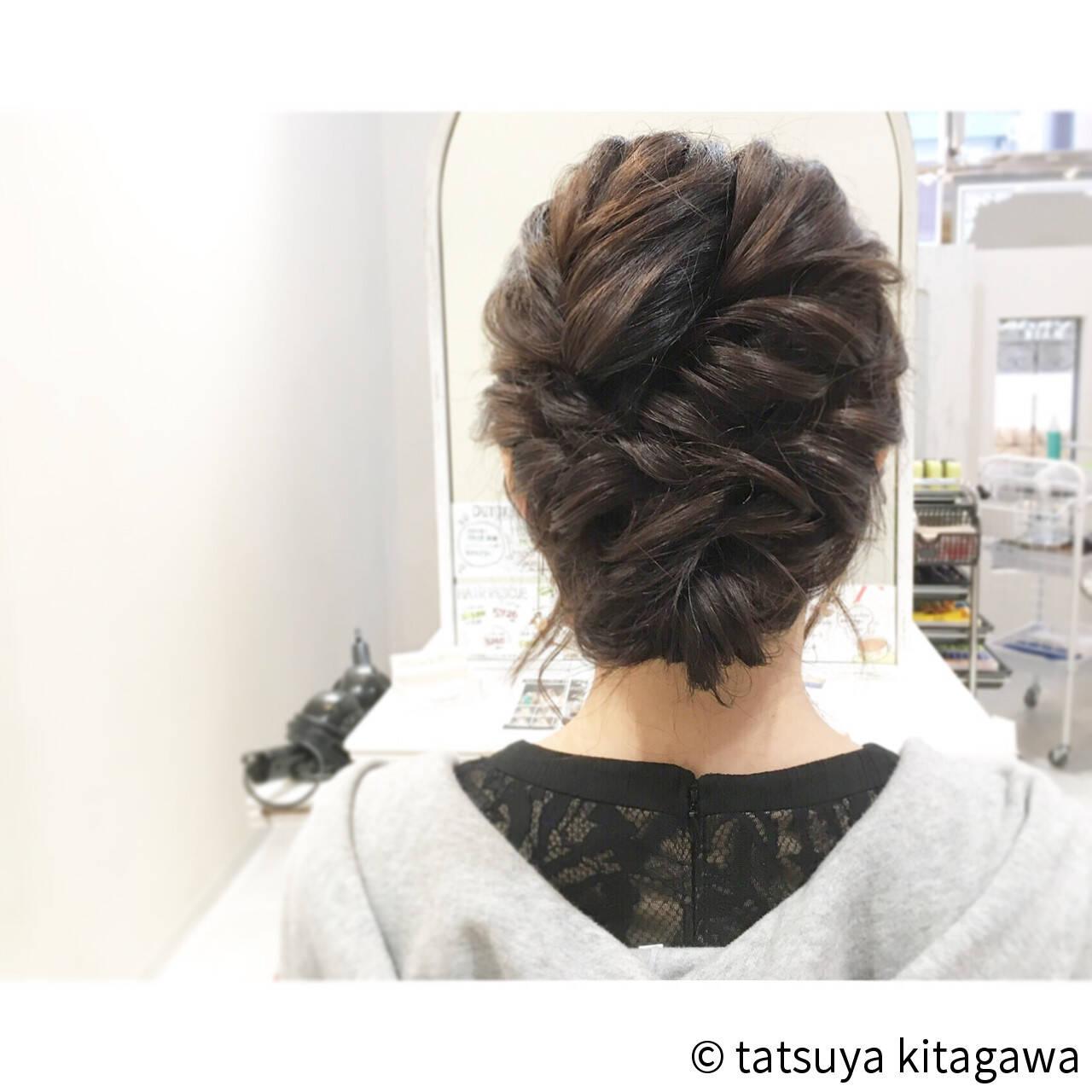 二次会 結婚式 ゆるふわ ミディアムヘアスタイルや髪型の写真・画像