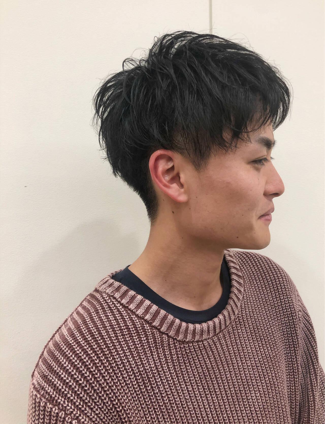 ショート メンズ メンズヘア ナチュラルヘアスタイルや髪型の写真・画像