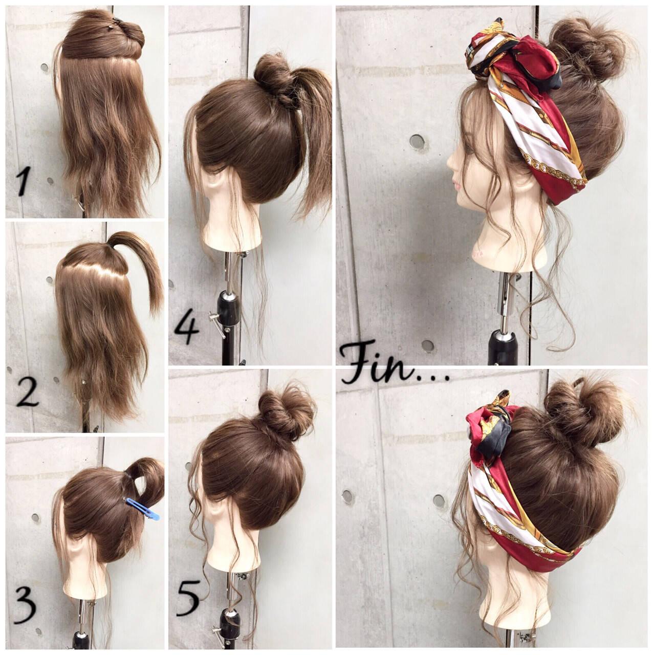 簡単ヘアアレンジ 大人女子 ヘアアクセ セミロングヘアスタイルや髪型の写真・画像