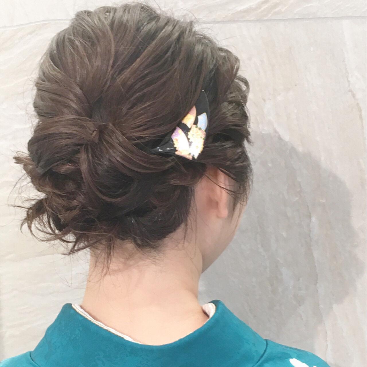 ショート ナチュラル ボブ 簡単ヘアアレンジヘアスタイルや髪型の写真・画像