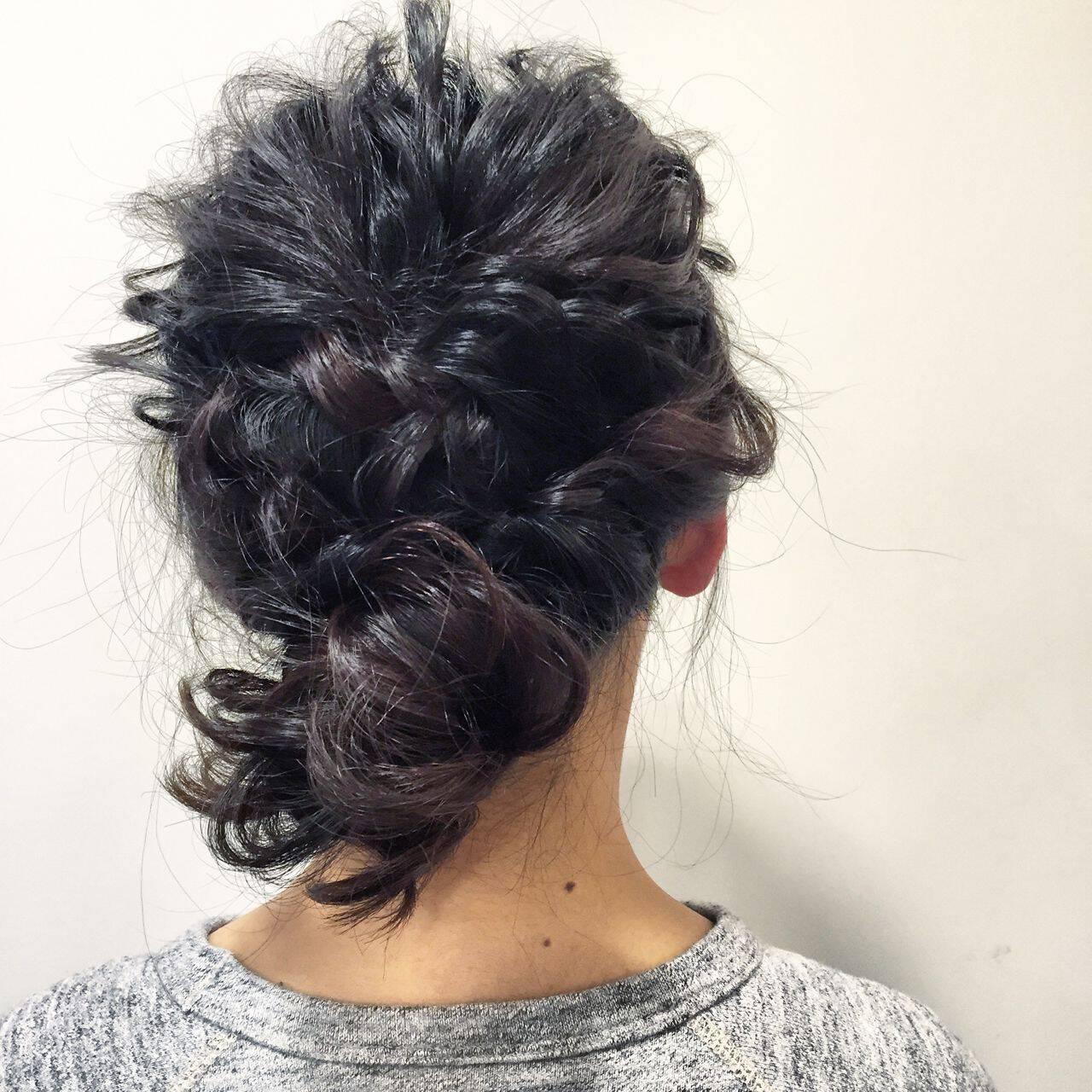 コンサバ ショート ヘアアレンジ くるりんぱヘアスタイルや髪型の写真・画像