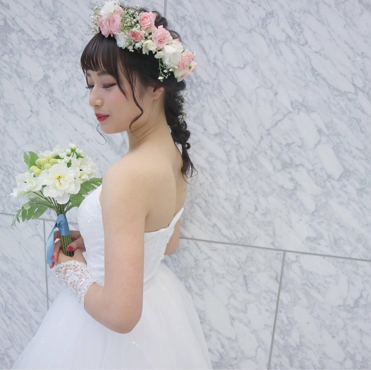 結婚式 上品 冬 セミロングヘアスタイルや髪型の写真・画像