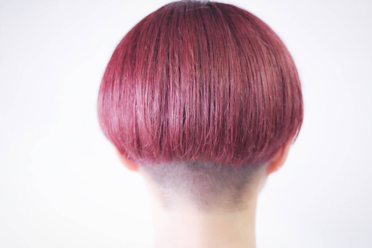 ベリーピンク ラベンダーピンク ピンクバイオレット ピンクラベンダーヘアスタイルや髪型の写真・画像