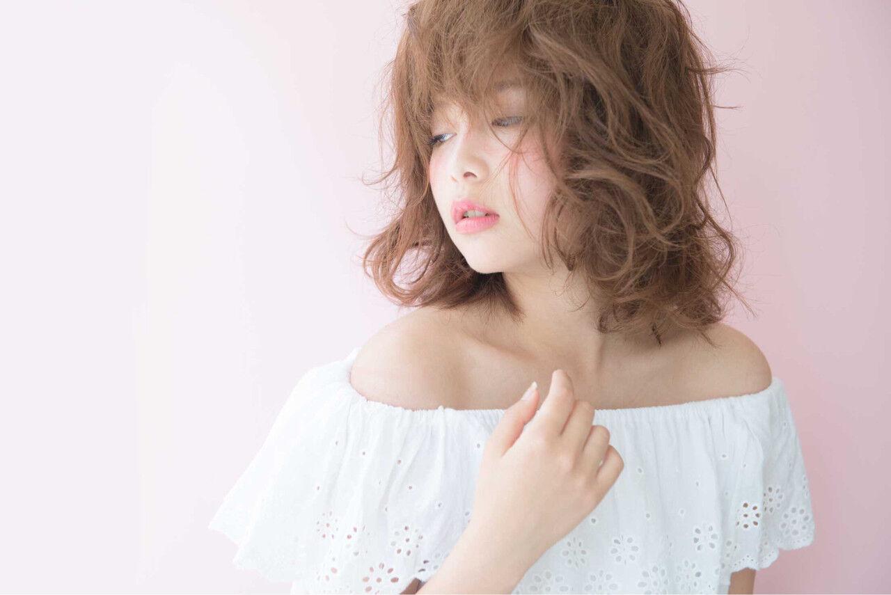 ミディアム 簡単 色気 ボブヘアスタイルや髪型の写真・画像