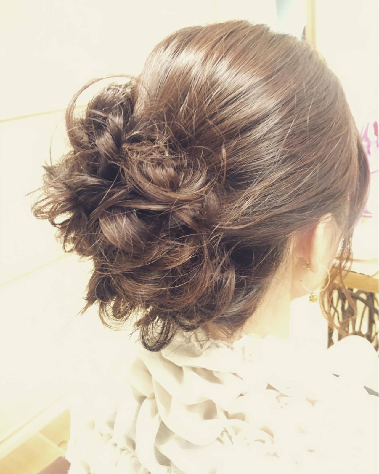 ヘアアレンジ 結婚式 ゆるふわ ナチュラルヘアスタイルや髪型の写真・画像