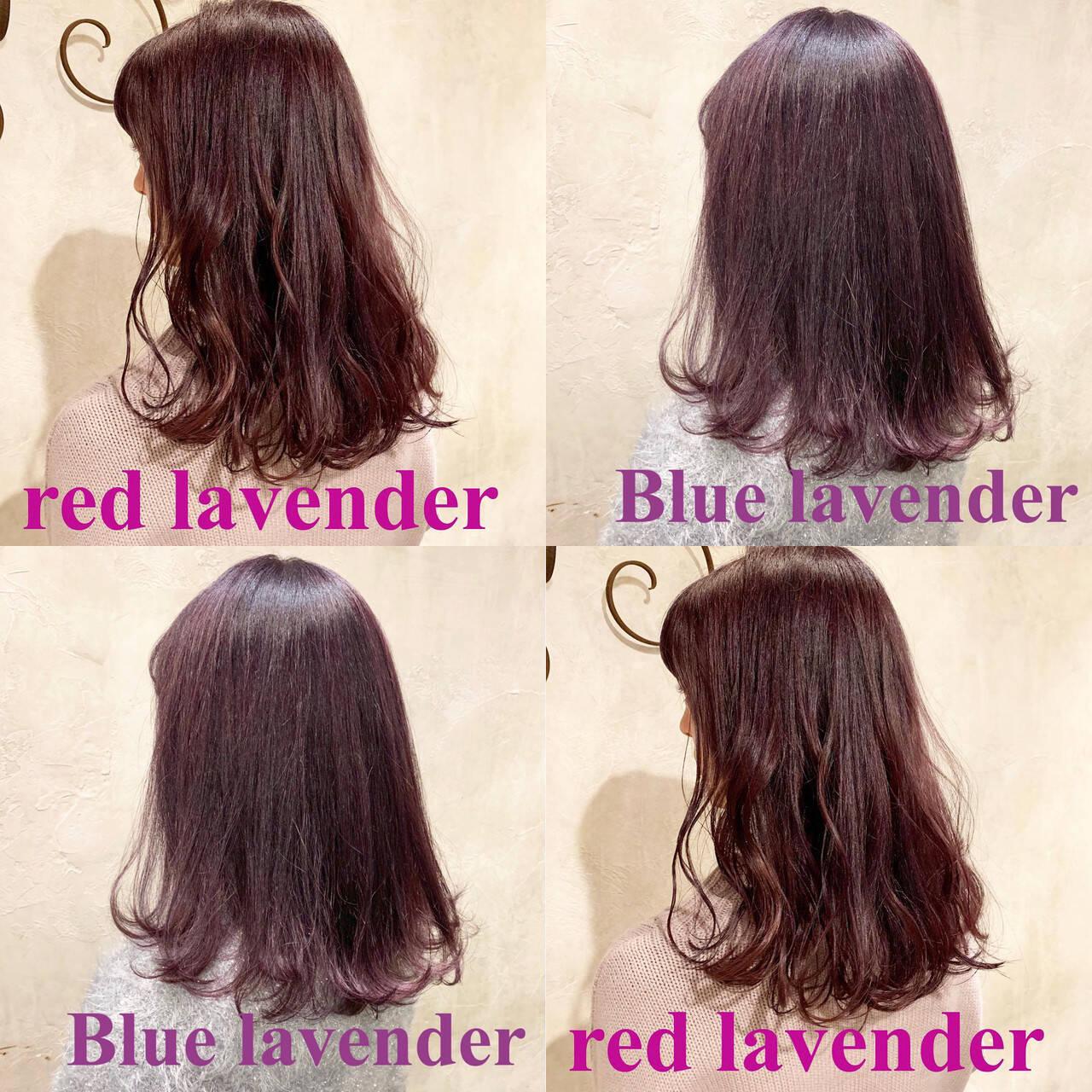 ラベンダー ロング ラベンダーアッシュ ストリートヘアスタイルや髪型の写真・画像
