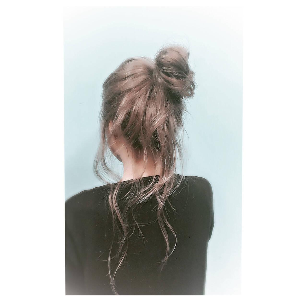 グラデーションカラー ナチュラル ロング ヘアアレンジヘアスタイルや髪型の写真・画像