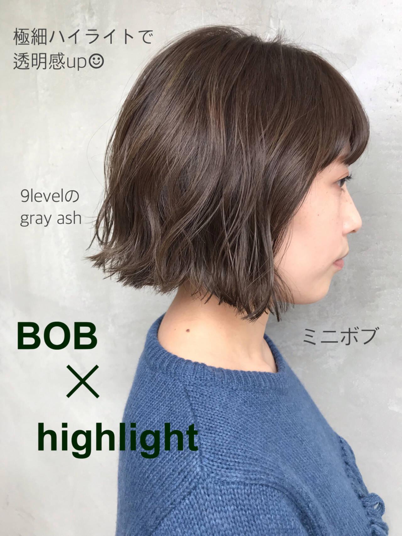 大人かわいい ボブ 外ハネ 大人女子ヘアスタイルや髪型の写真・画像