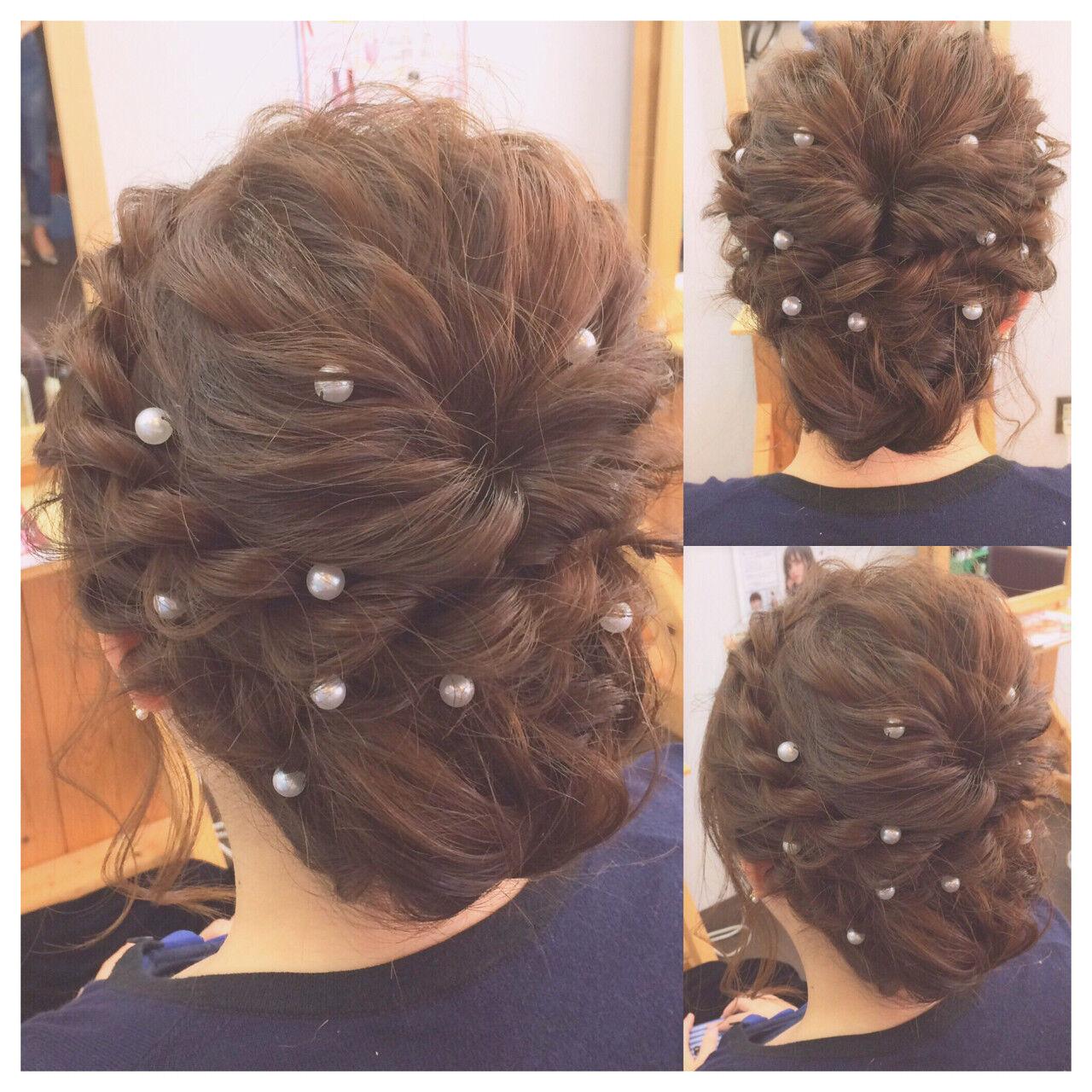 ショート フェミニン ミディアム 結婚式ヘアスタイルや髪型の写真・画像