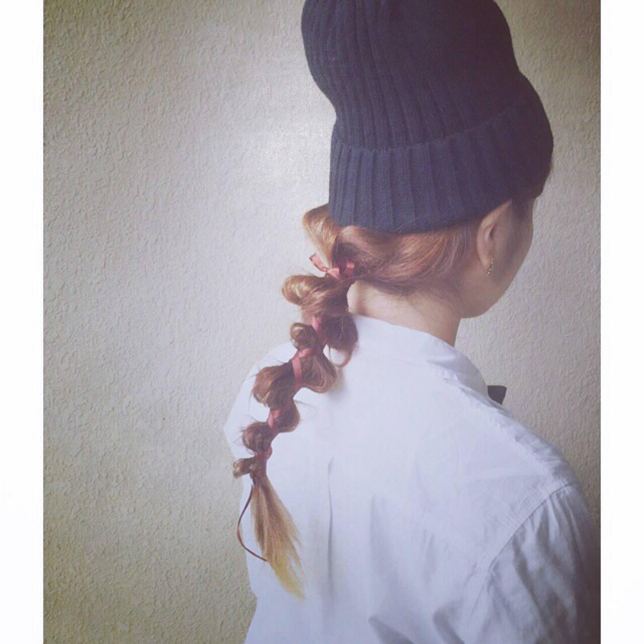 ヘアアレンジ ショート ミディアム 簡単ヘアアレンジヘアスタイルや髪型の写真・画像