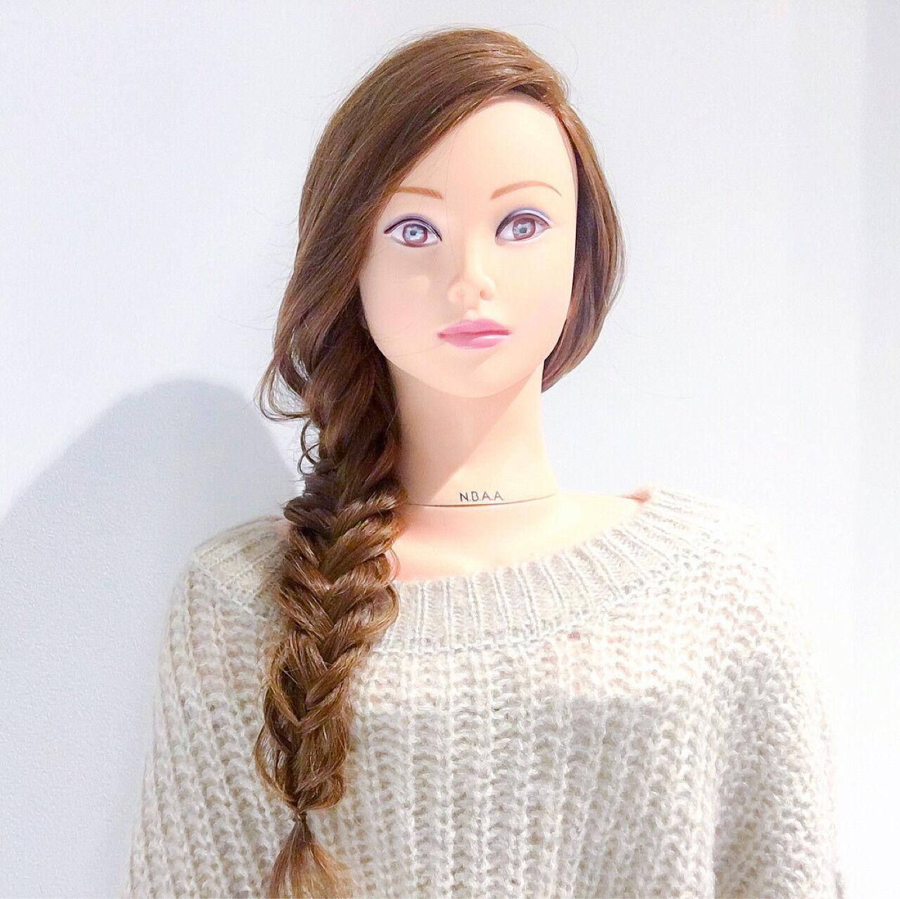 バレンタイン デート ヘアアレンジ ゆるふわヘアスタイルや髪型の写真・画像