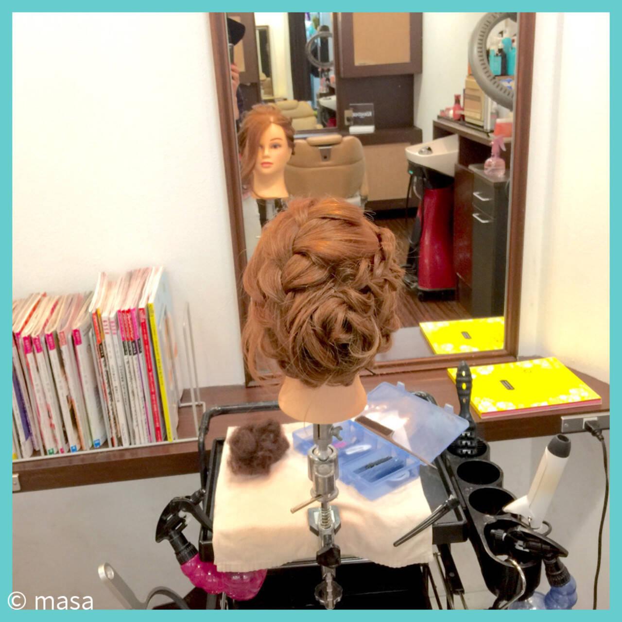 ヘアアレンジ セミロング 結婚式 アップスタイルヘアスタイルや髪型の写真・画像