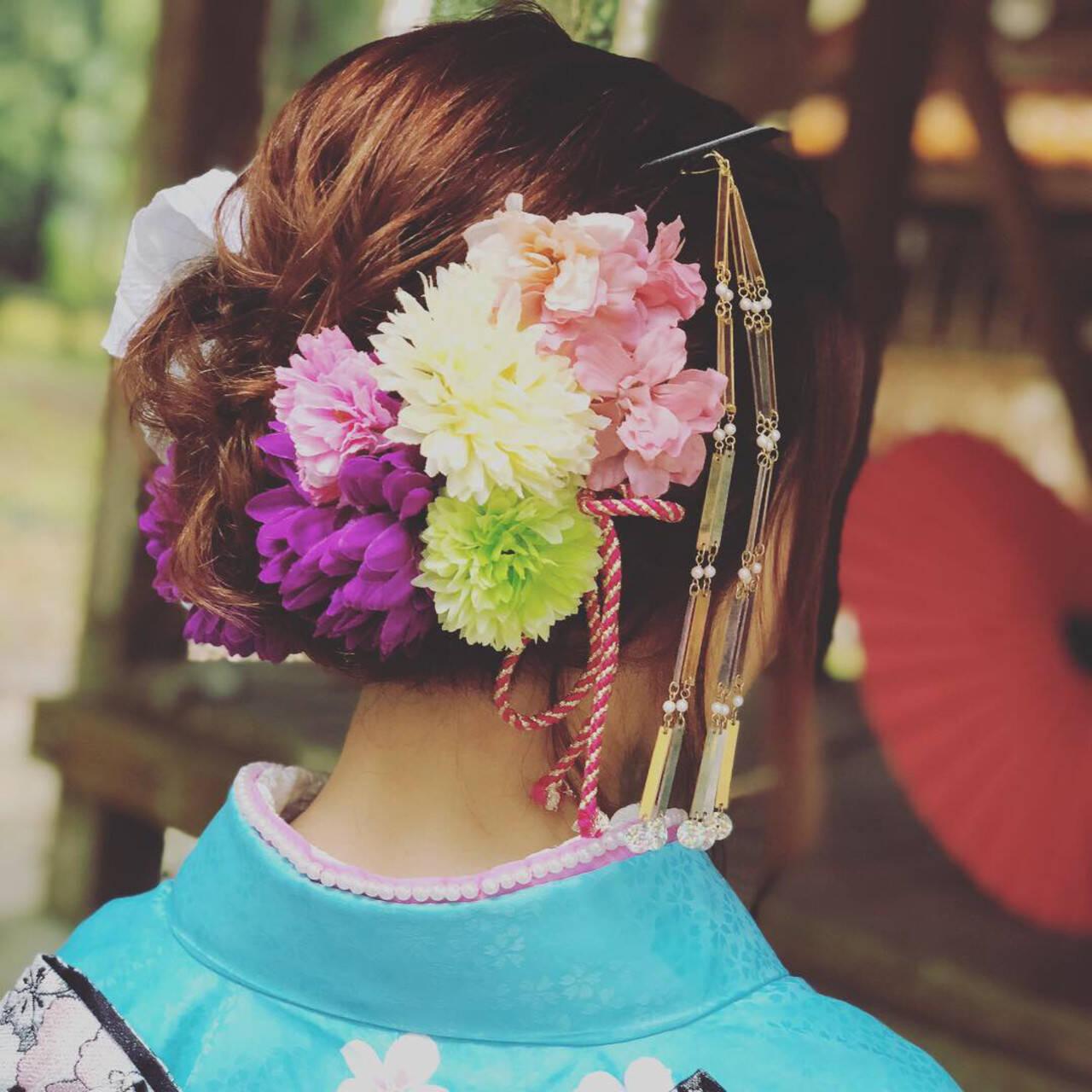 ヘアアレンジ ブライダル 成人式 福岡市ヘアスタイルや髪型の写真・画像