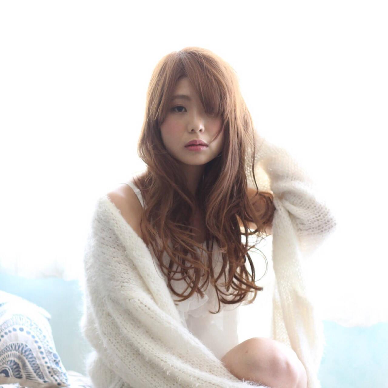 ナチュラル ロング グラデーションカラー 外国人風ヘアスタイルや髪型の写真・画像