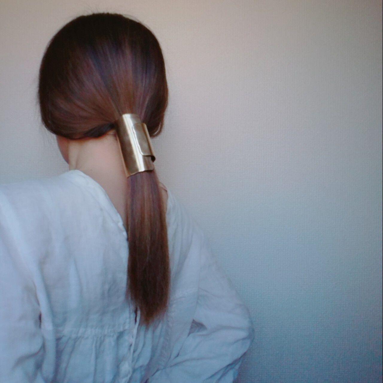 セミロング ショート ヘアアクセ 簡単ヘアアレンジヘアスタイルや髪型の写真・画像