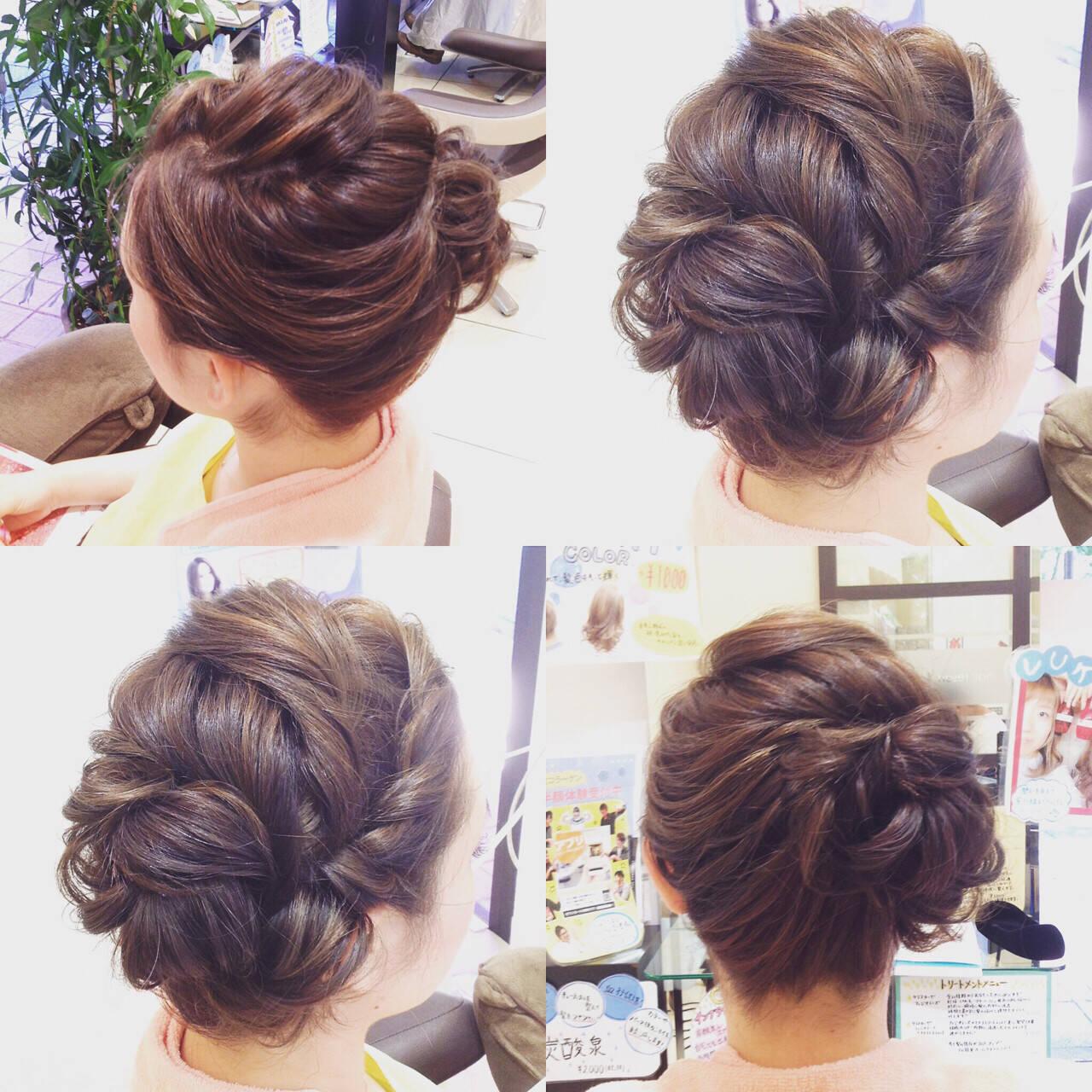 ツイスト 大人かわいい セミロング ハイライトヘアスタイルや髪型の写真・画像