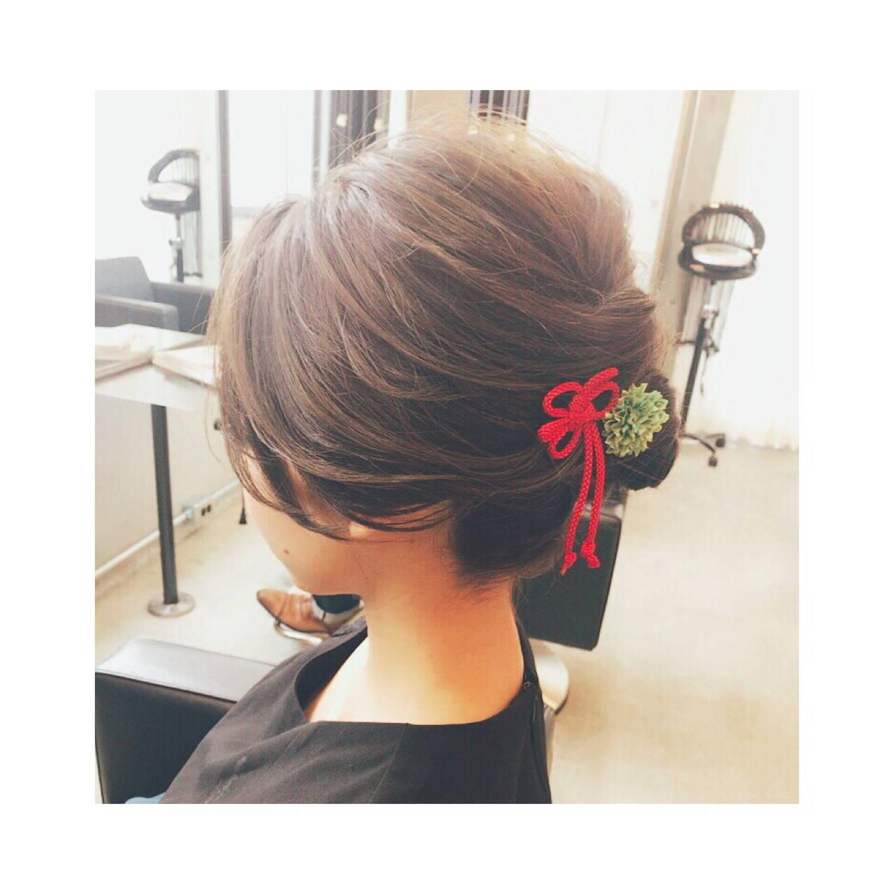 夏 お祭り 花火大会 上品ヘアスタイルや髪型の写真・画像