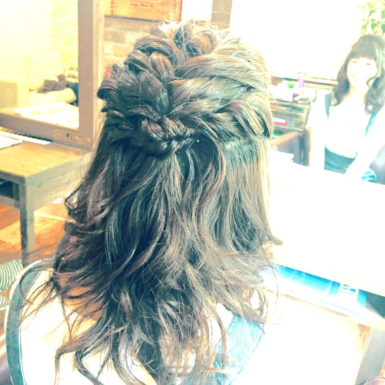 モテ髪 ヘアアレンジ 愛され ナチュラルヘアスタイルや髪型の写真・画像