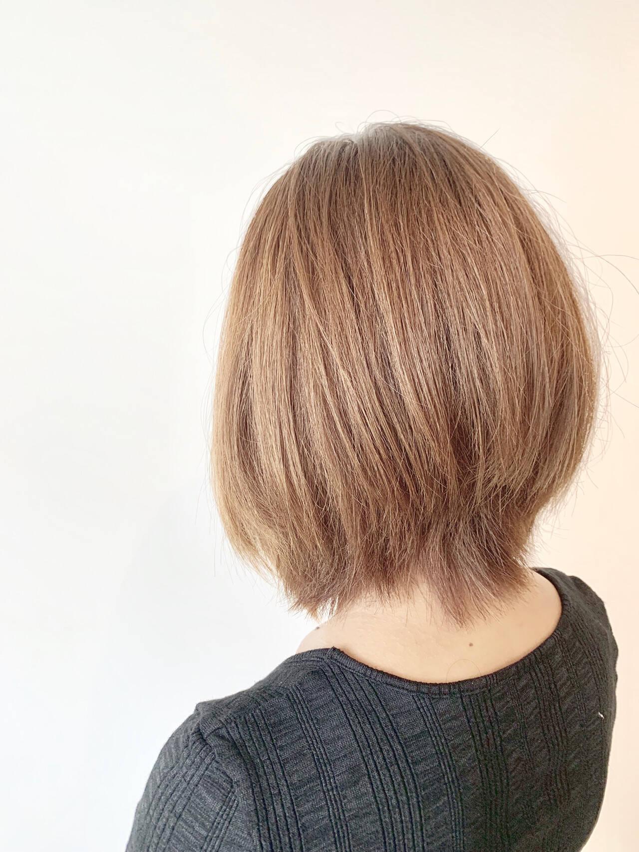 ボブ ショートボブ 簡単スタイリング 大人可愛いヘアスタイルや髪型の写真・画像
