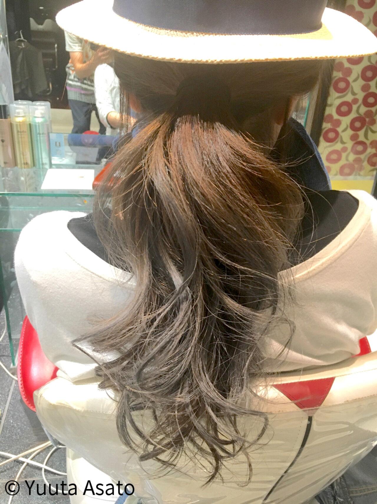 ストリート 夏 グラデーションカラー ロングヘアスタイルや髪型の写真・画像