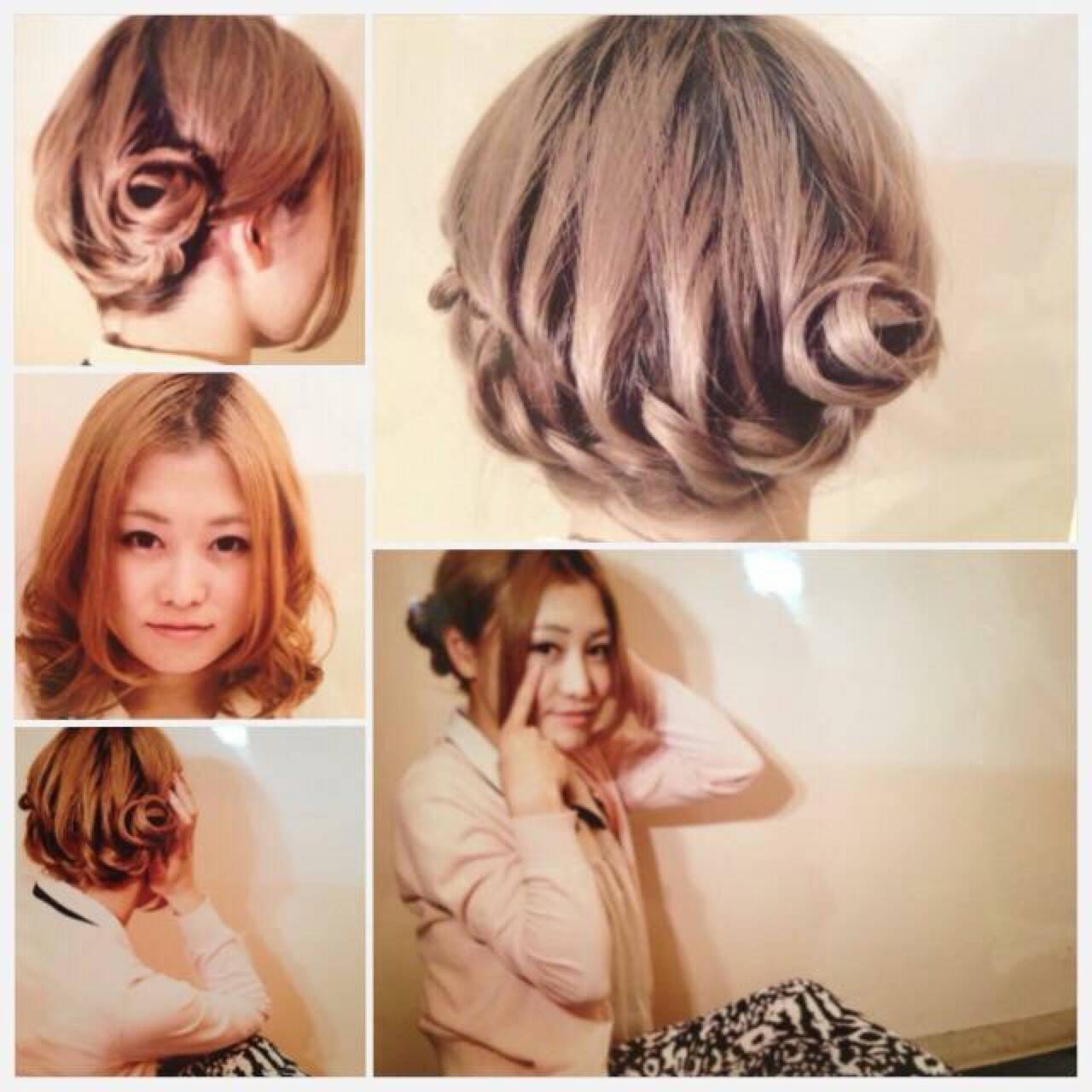 ストリート ねじり 簡単ヘアアレンジ 編み込みヘアスタイルや髪型の写真・画像