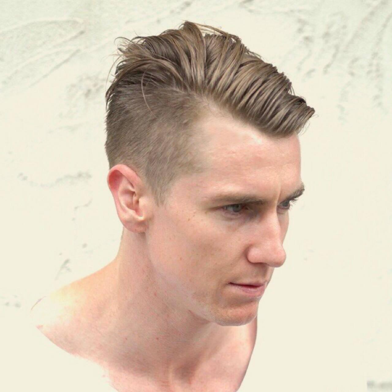 外国人風 メンズ ボーイッシュ ショートヘアスタイルや髪型の写真・画像
