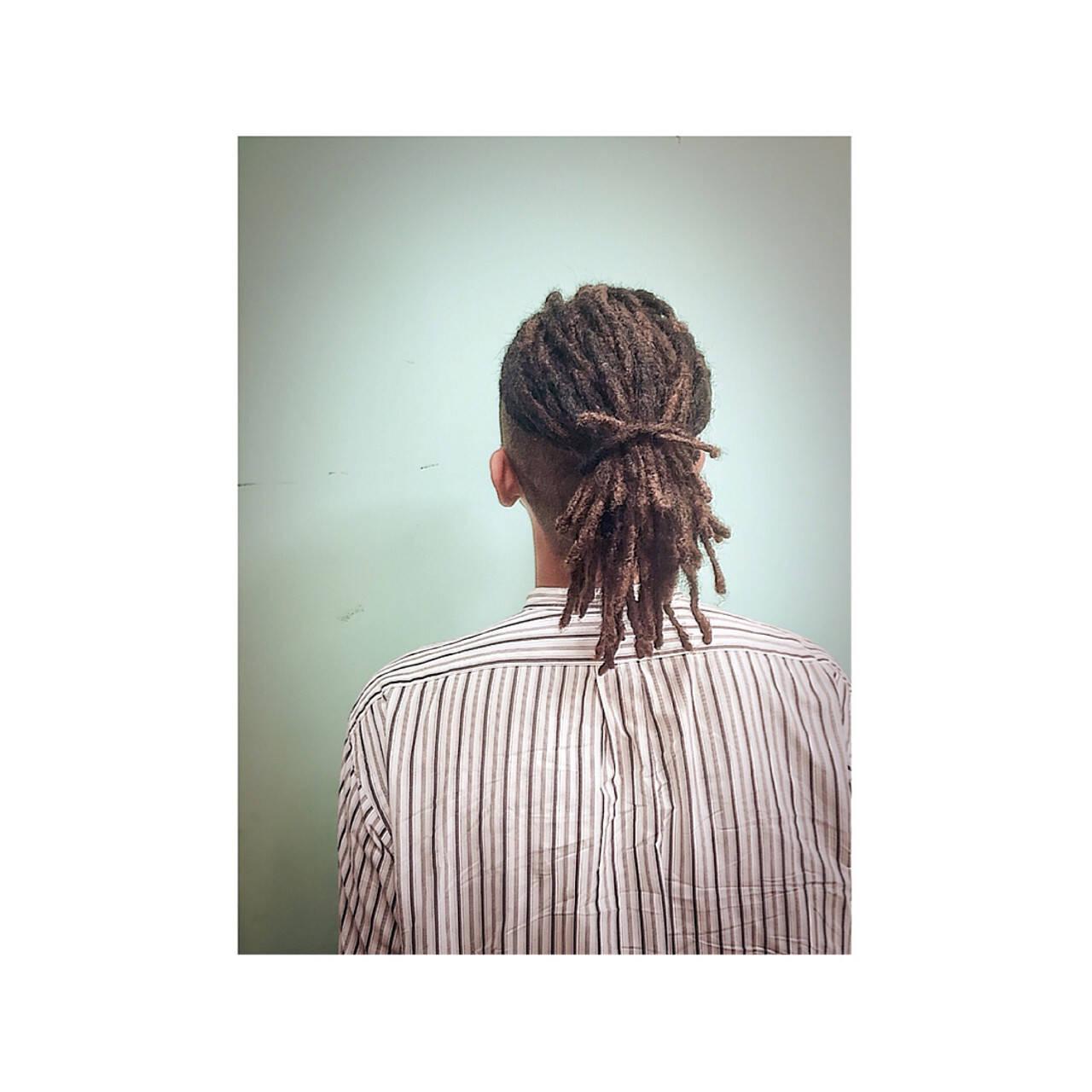 アフロ ドレッド ストリート ミディアムヘアスタイルや髪型の写真・画像