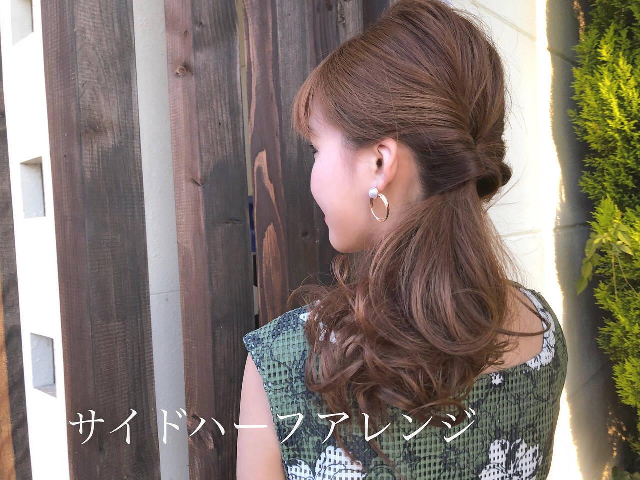 ヘアアレンジ ロング ガーリー 簡単ヘアアレンジヘアスタイルや髪型の写真・画像