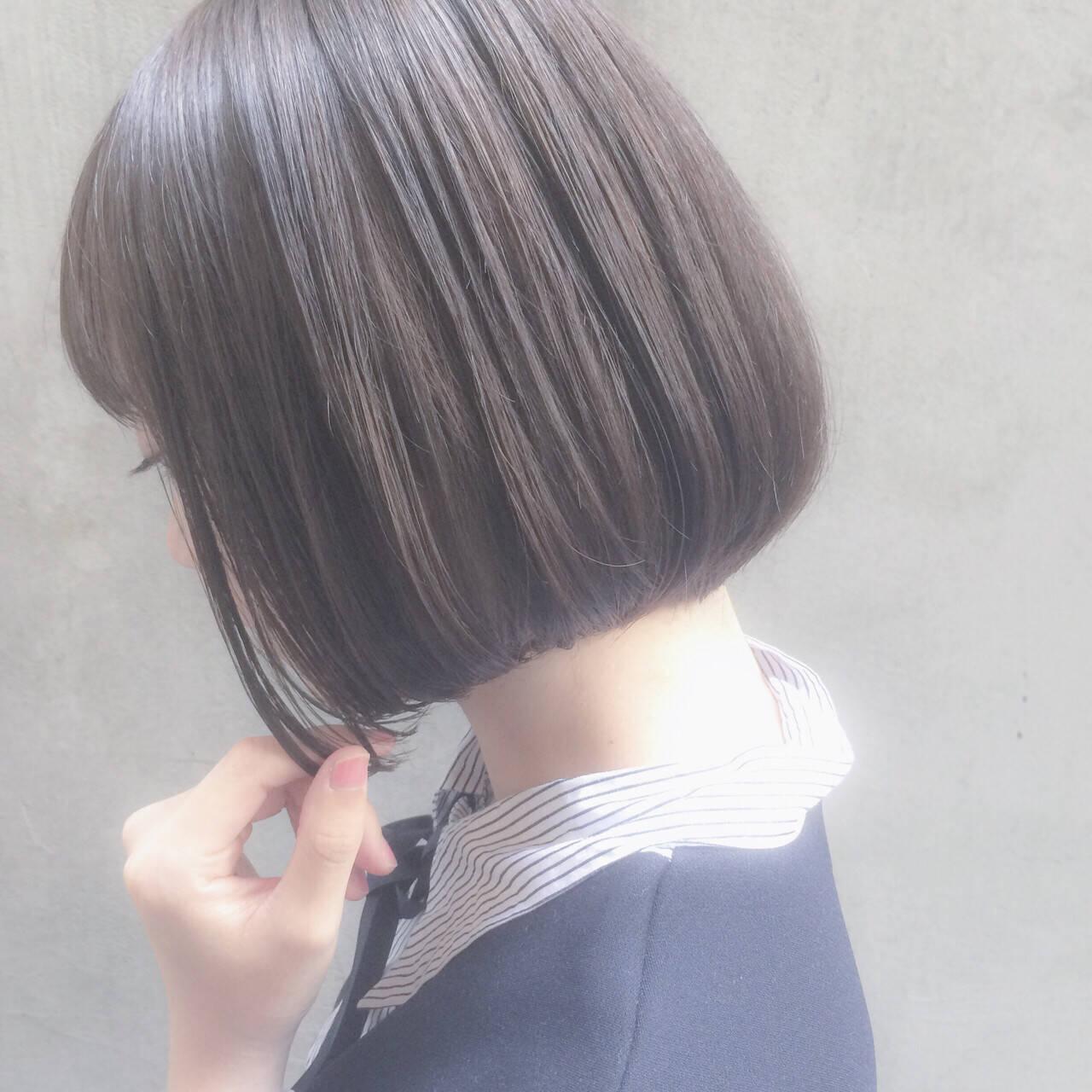 色気 大人かわいい ショート オフィスヘアスタイルや髪型の写真・画像