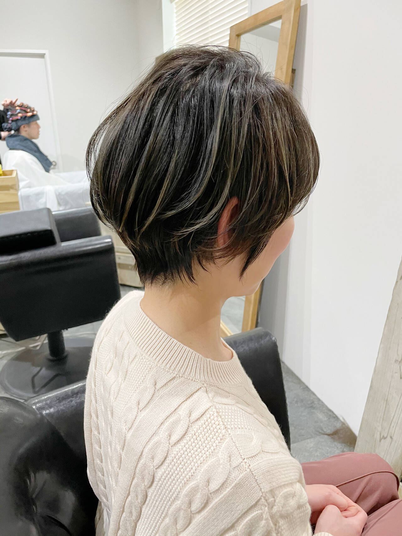 切りっぱなしボブ ウルフカット ショート ミニボブヘアスタイルや髪型の写真・画像