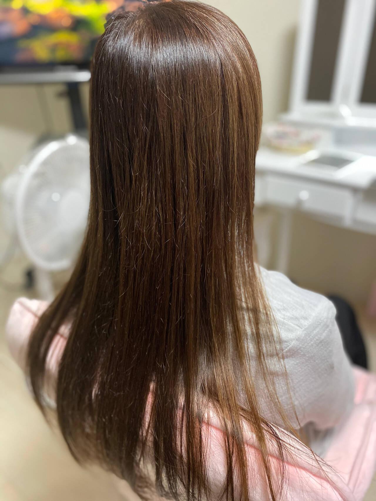 髪質改善 縮毛矯正 髪質改善カラー 髪質改善トリートメントヘアスタイルや髪型の写真・画像