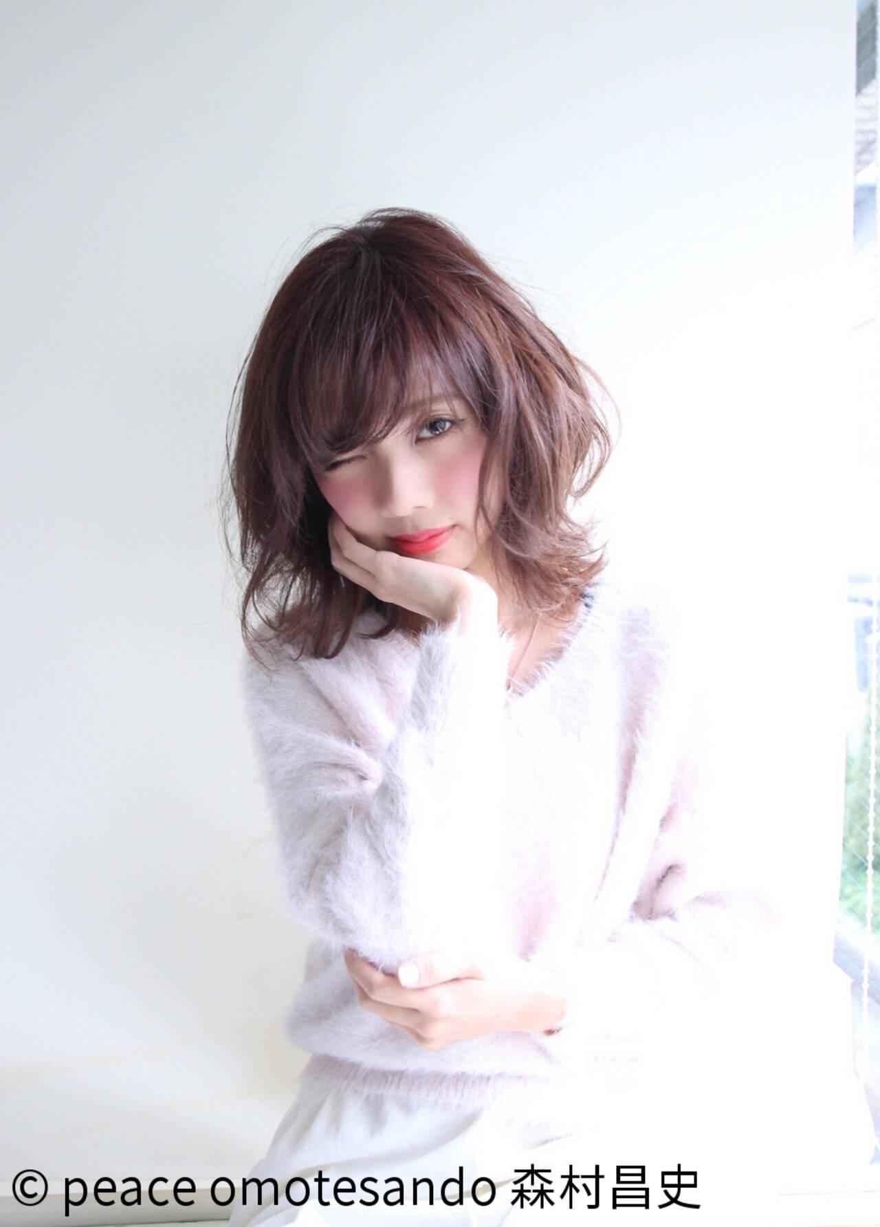 モテ髪 フェミニン ニュアンス ゆるふわヘアスタイルや髪型の写真・画像