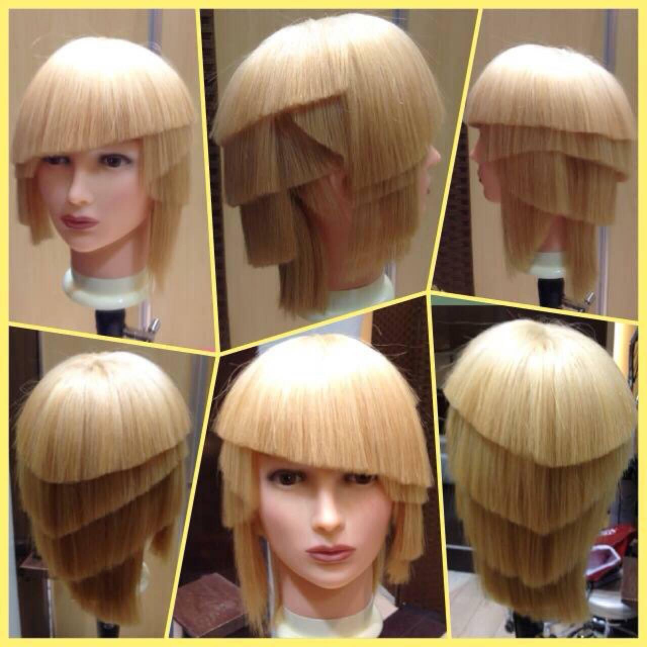 モード ミディアムヘアスタイルや髪型の写真・画像