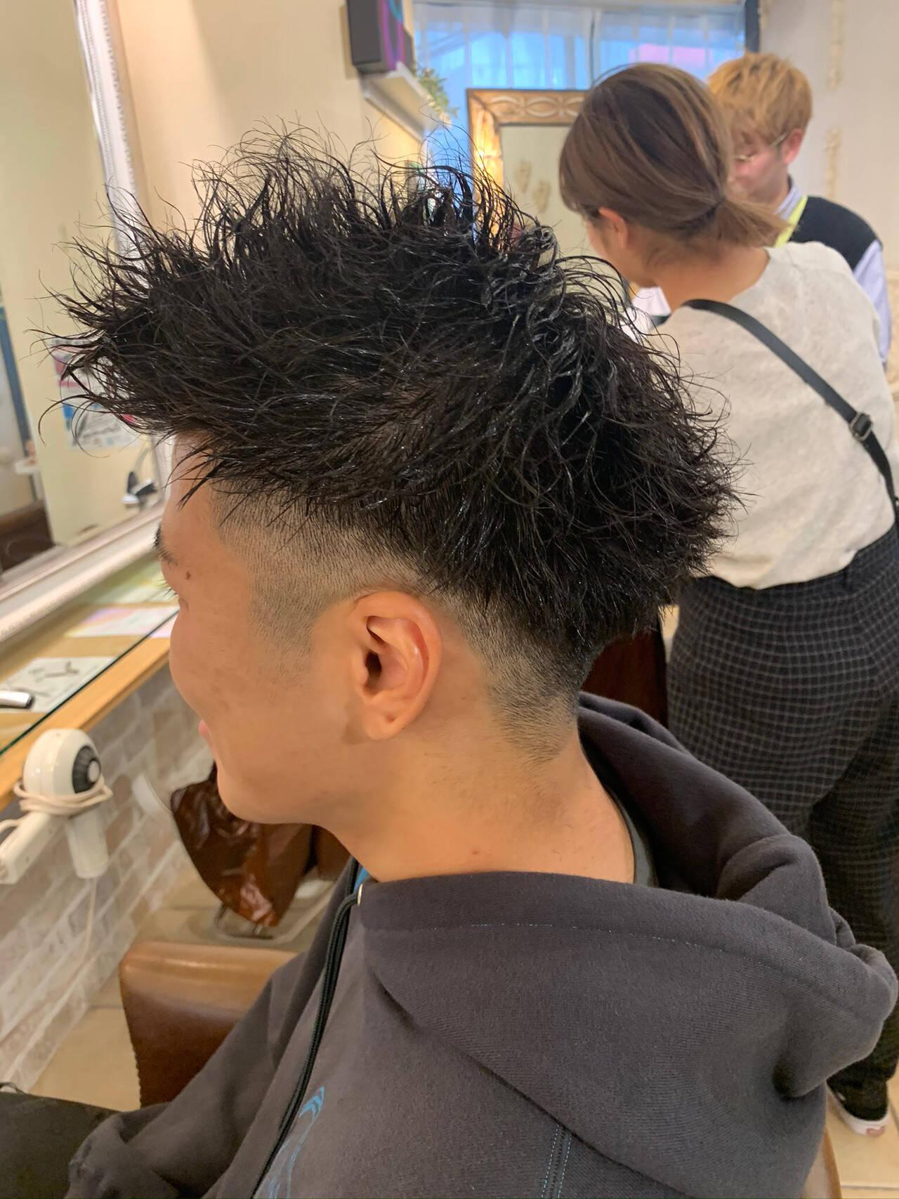 メンズヘア ボーイッシュ ストリート メンズパーマヘアスタイルや髪型の写真・画像