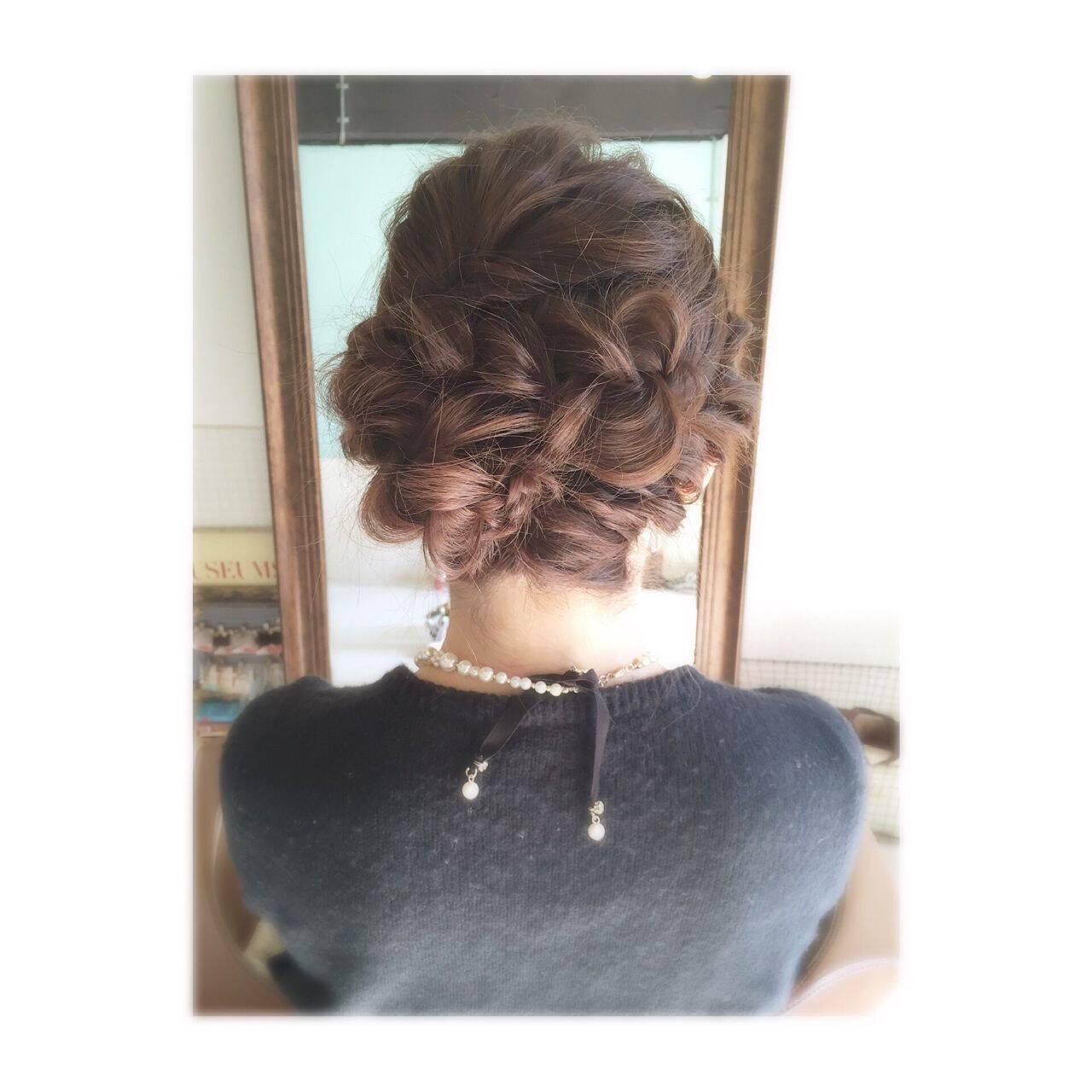 ヘアアレンジ コンサバ 結婚式 二次会ヘアスタイルや髪型の写真・画像