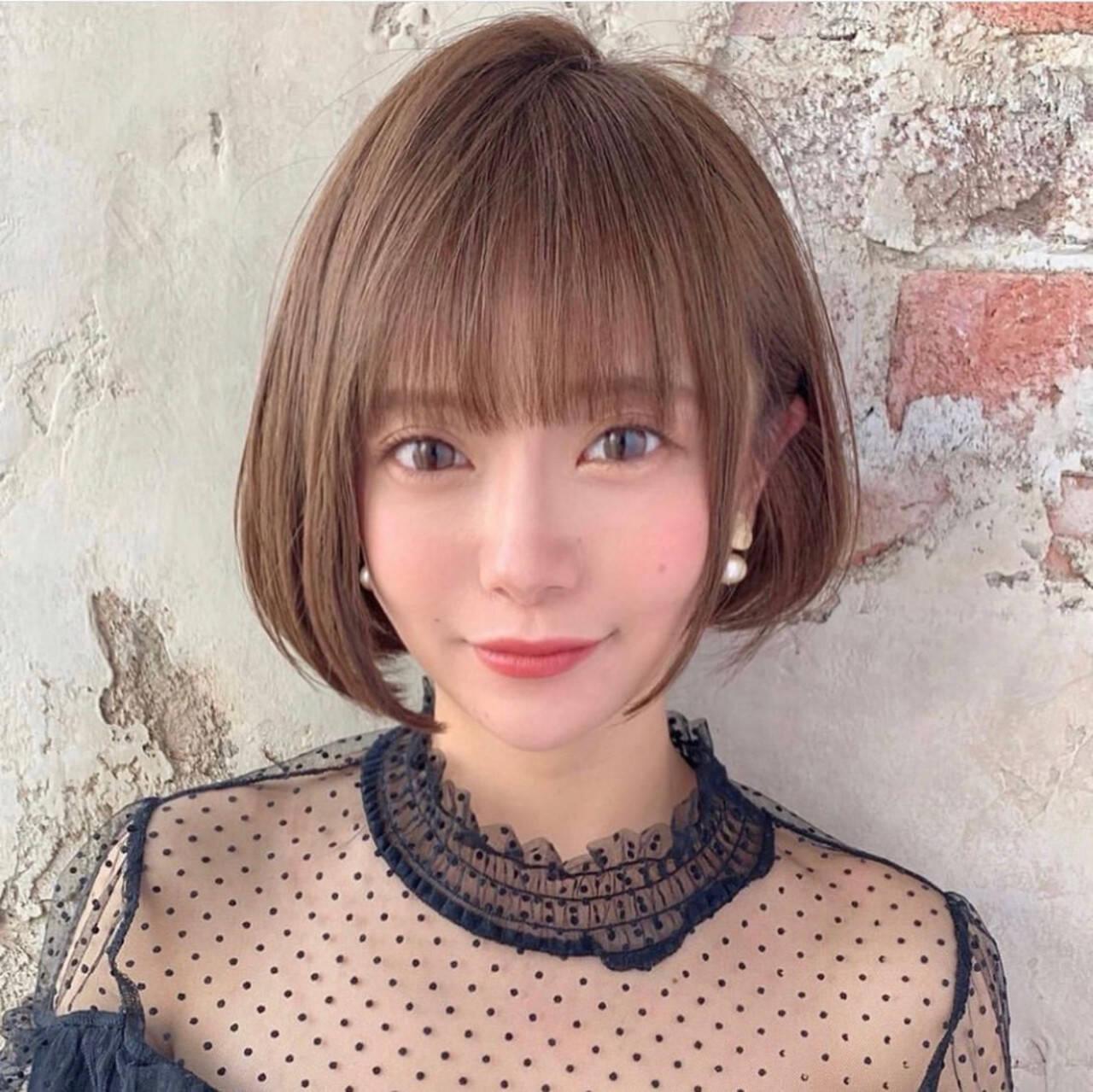 ミニボブ ショートボブ 大人ヘアスタイル モテ髪ヘアスタイルや髪型の写真・画像