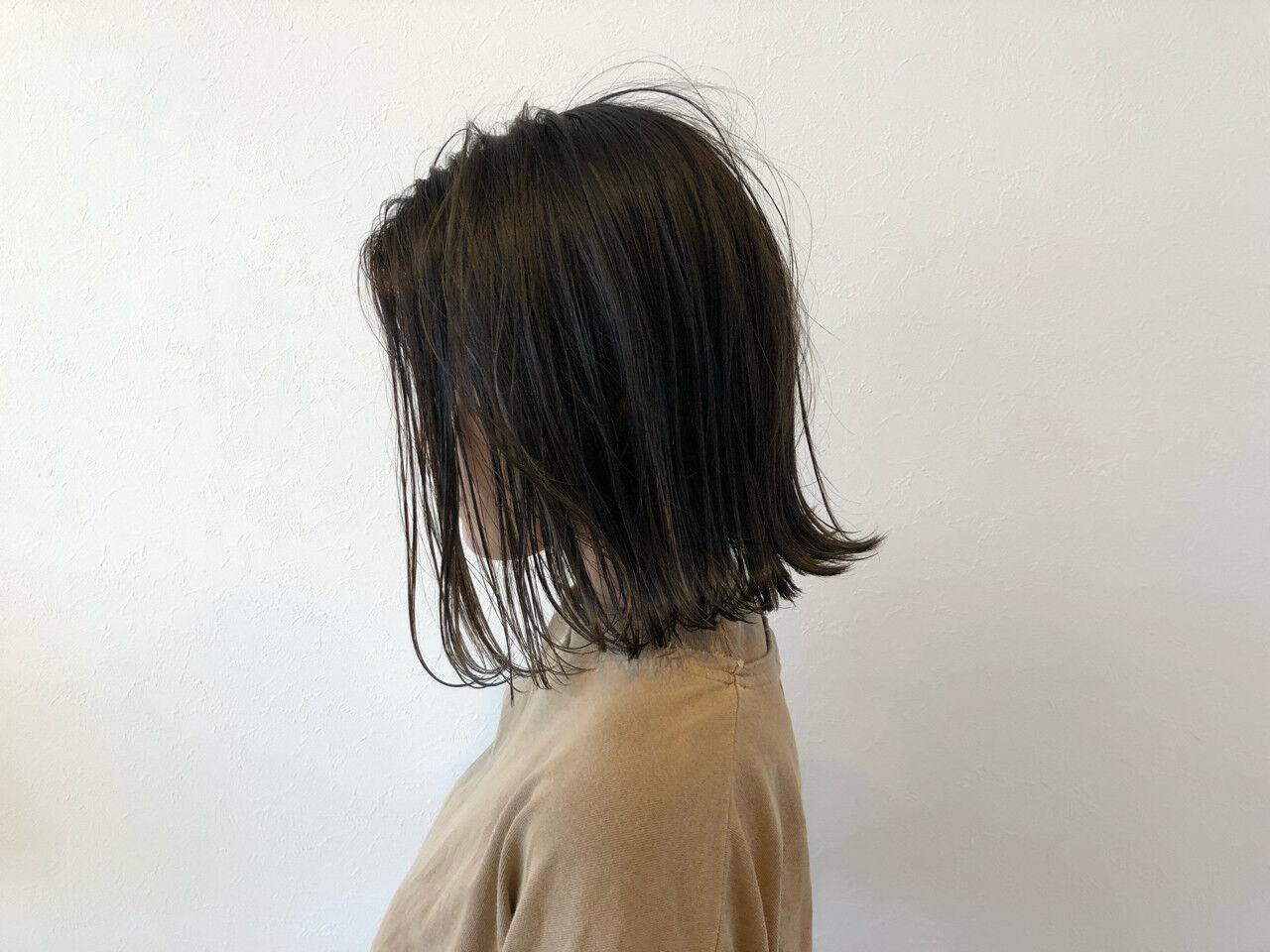 ミディアム 涼しげ ナチュラル 色気ヘアスタイルや髪型の写真・画像