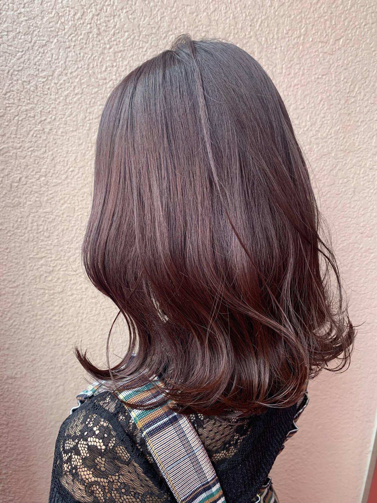 透明感 セミロング モテ髪 ニュアンスヘアスタイルや髪型の写真・画像