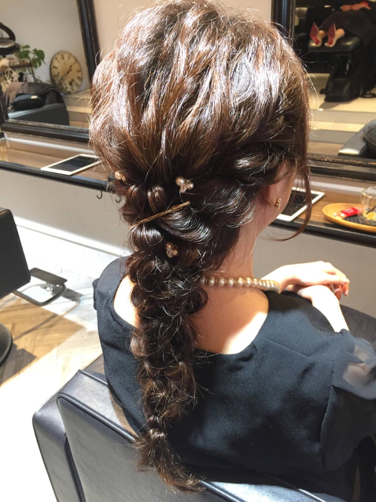 結婚式 花火大会 お祭り デートヘアスタイルや髪型の写真・画像